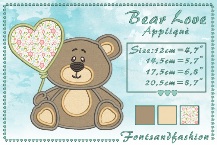 Bear Love_Appliquè