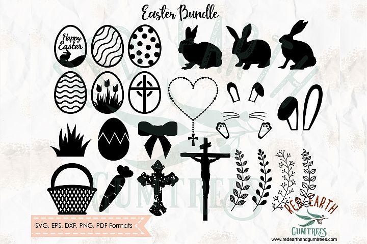 Easter elements bundle, rabbit, bunny in SVG,DXF,PNG,EPS,PDF