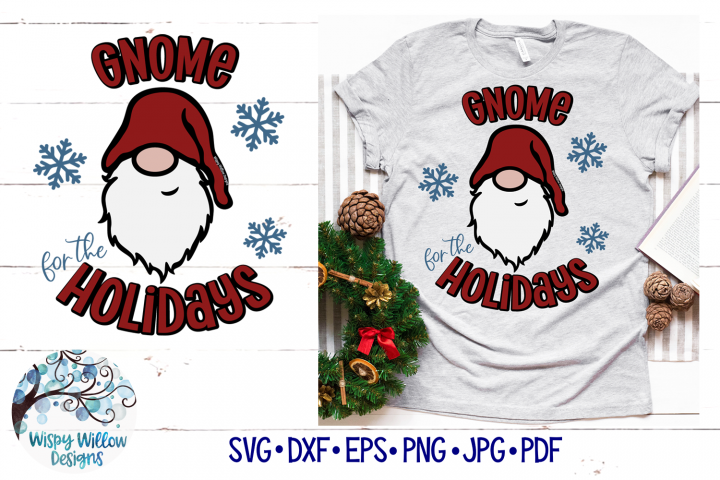 Gnome For The Holidays SVG | Christmas Gnome SVG File