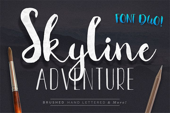 Font Duo Skyline Adventure