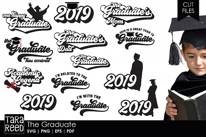 The Graduate - Graduation SVG and Cut Files for Crafters