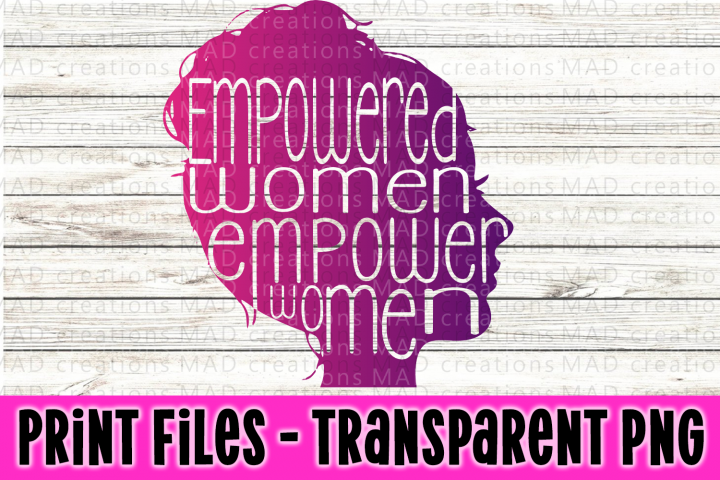 Empowered Woman Silhouette Print File
