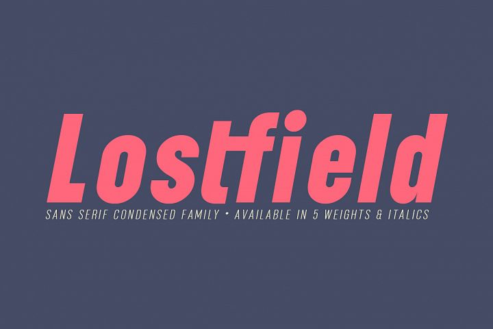 Lostfield Sans Font