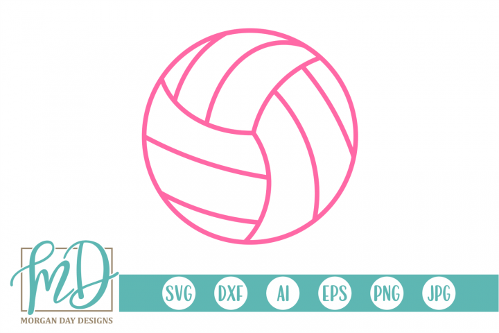 Volleyball SVG, DXF, AI, EPS, PNG, JPEG