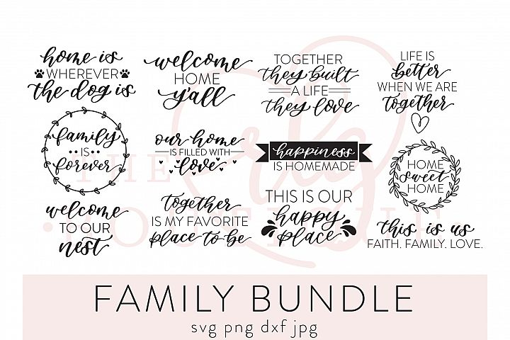 Family Bundle SVG DXF PNG JPG