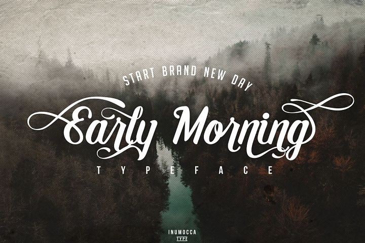 Early Morning Typeface
