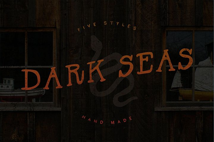 Dark Seas | A Salty Font Family