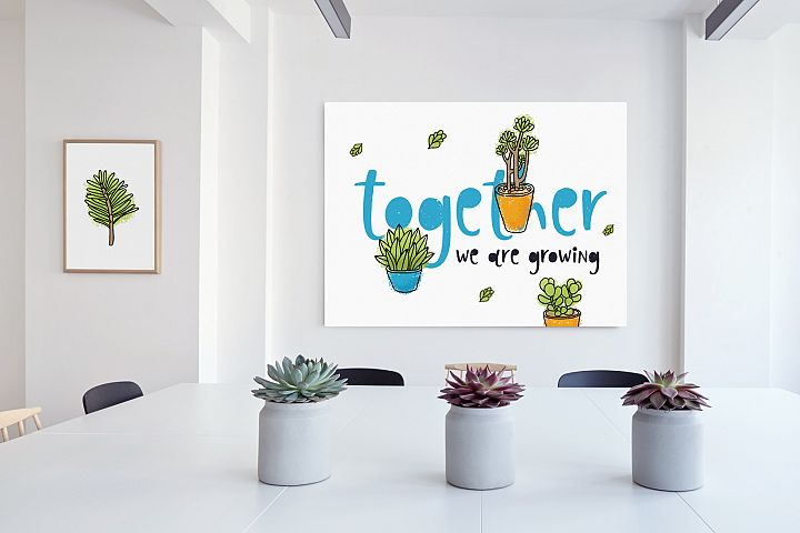 Succulents 14 vector illustrations example 4