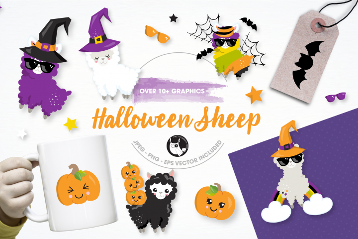 halloween sheep graphics and illustrations