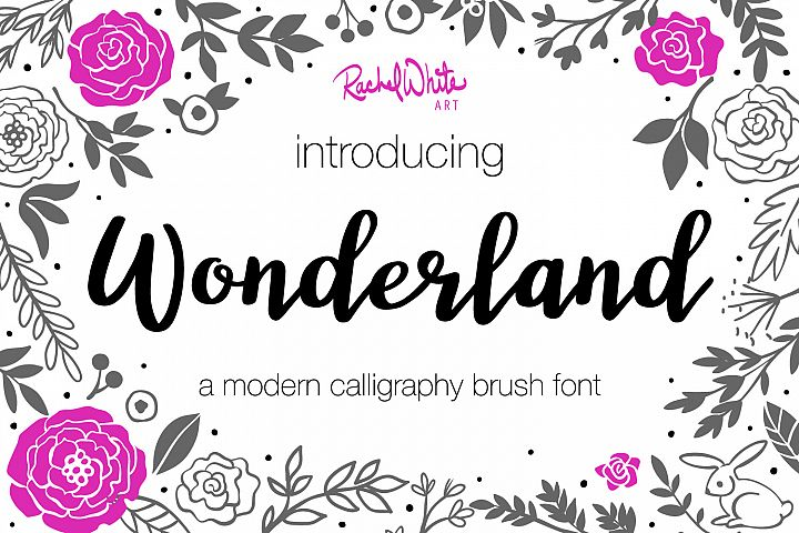 Wonderland, a modern calligraphy font - Free Font of The Week