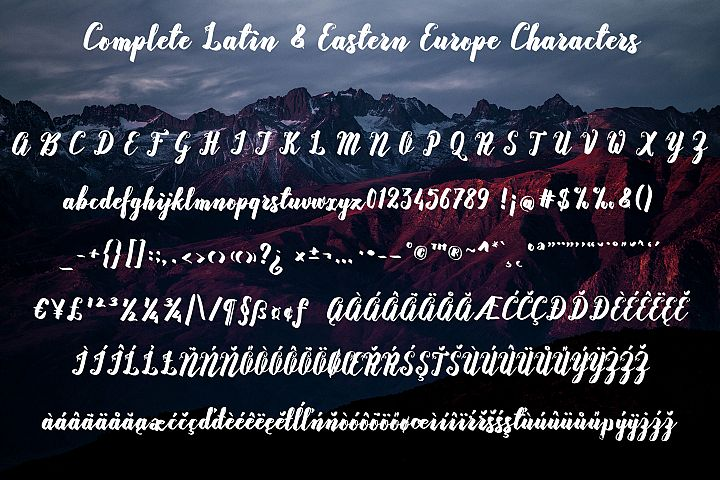 Rasterize Script Bold example image 6