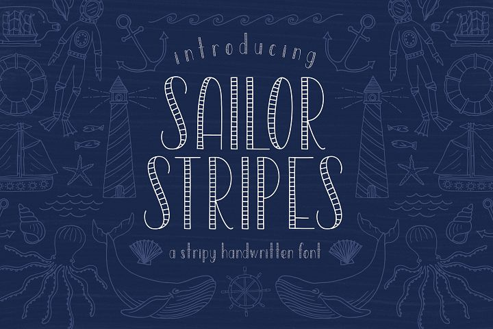 Sailor Stripes San Serif Font