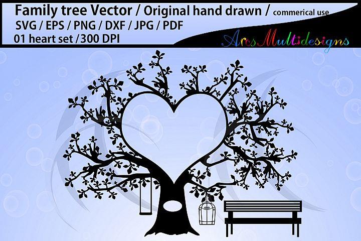 heart family tree clipart