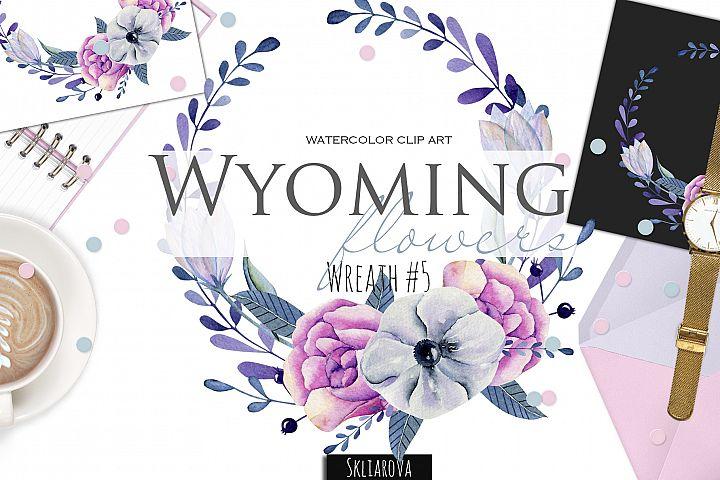 Wyoming flowers. Wreath #5