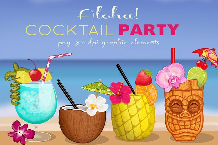 Tropical Cocktail Party Elements