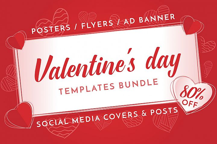 Valentines Day Design Templates Bundle SALE