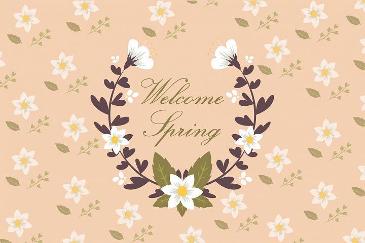 spring elements wreath vector