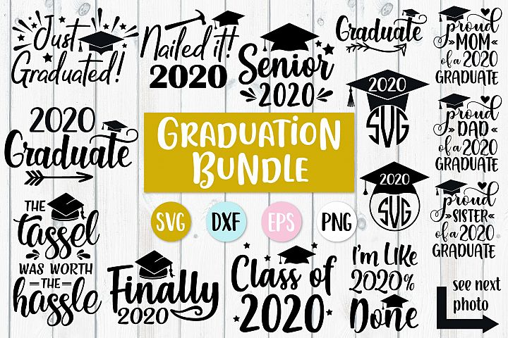 2020 Graduation Bundle Svg, 2020 Graduate, 2020 Senior Svg