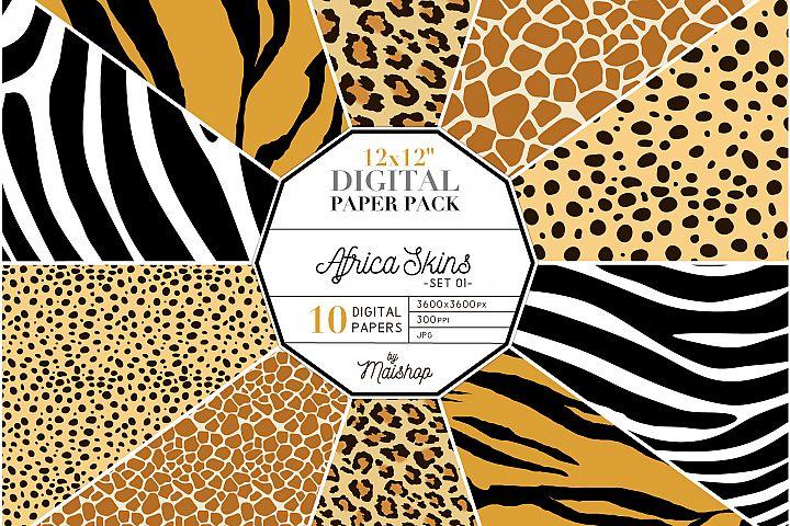 Digital Paper Pack Africa Skins Set 01
