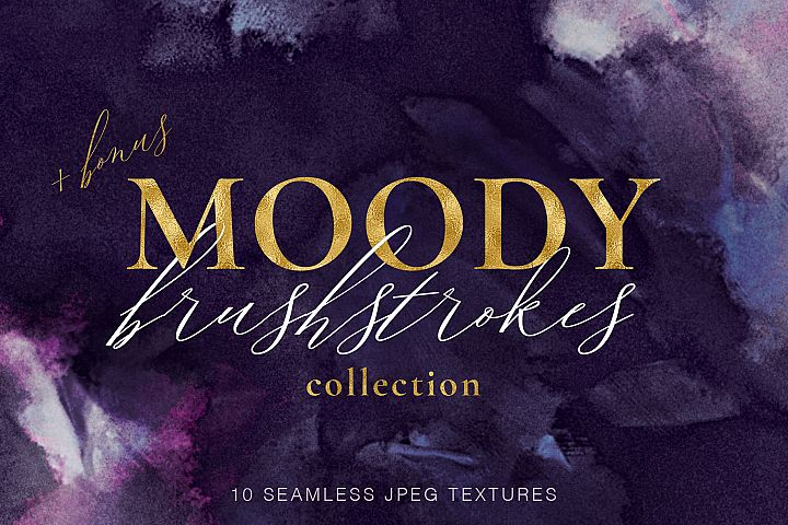 Brushstroke Textures Collection - 10 Seamless Digital Papers example