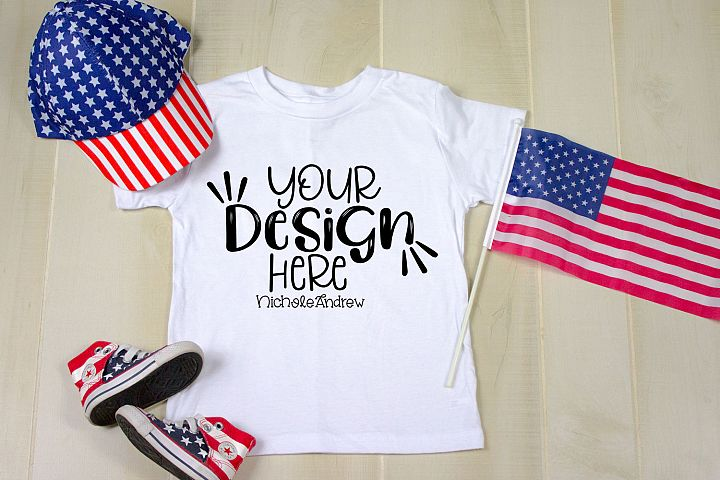 4th Of July Toddler Mockup For Crafters