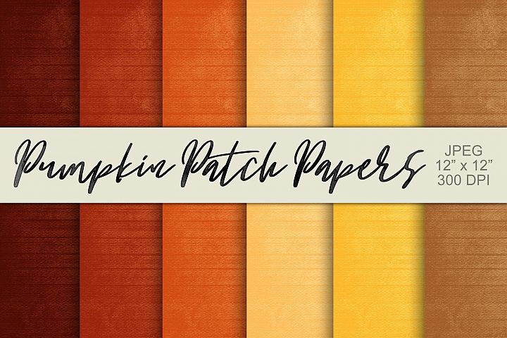 Digital Paper Textured Backgrounds - Pumpkin Patch