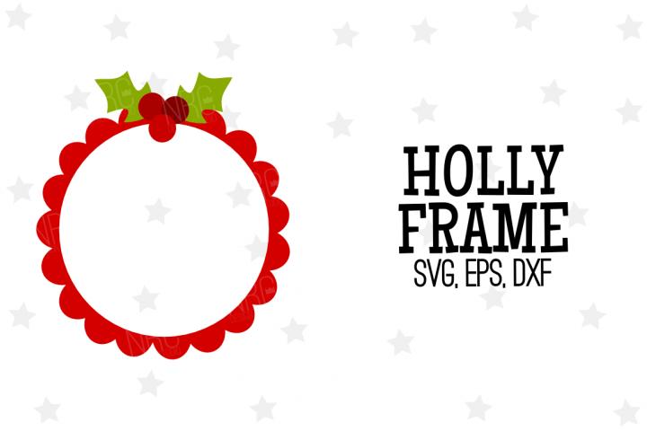 Holly Frame SVG File