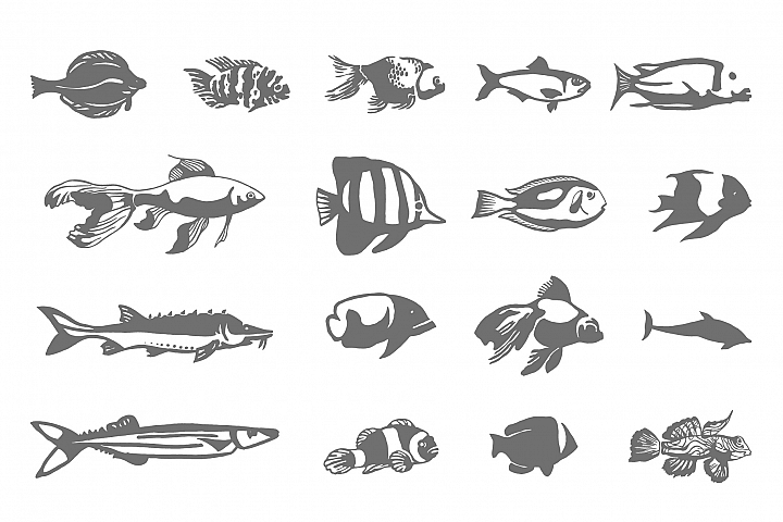 Collection of fish icon