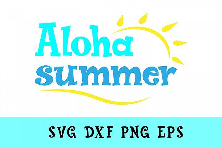 Aloha Summer Svg Dxf Png Jpg Eps