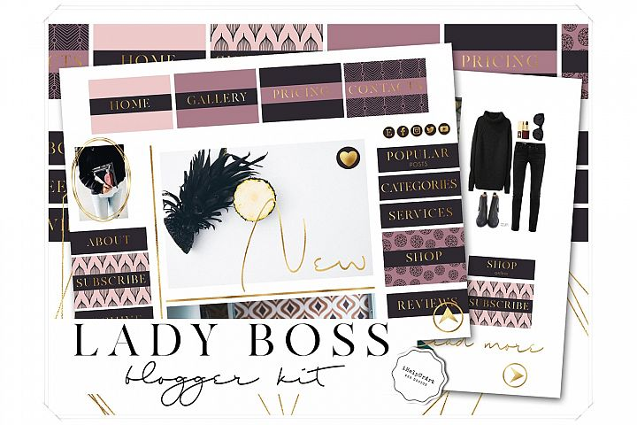 Lady Boss Blogger Kit - Blogger Starter - Branding Package