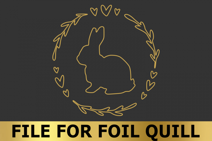 Easter Bunny Wreath - An Easter SVG Draw File