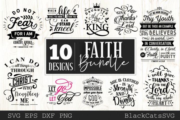 Faith SVG bundle 10 designs Christian SVG bundle