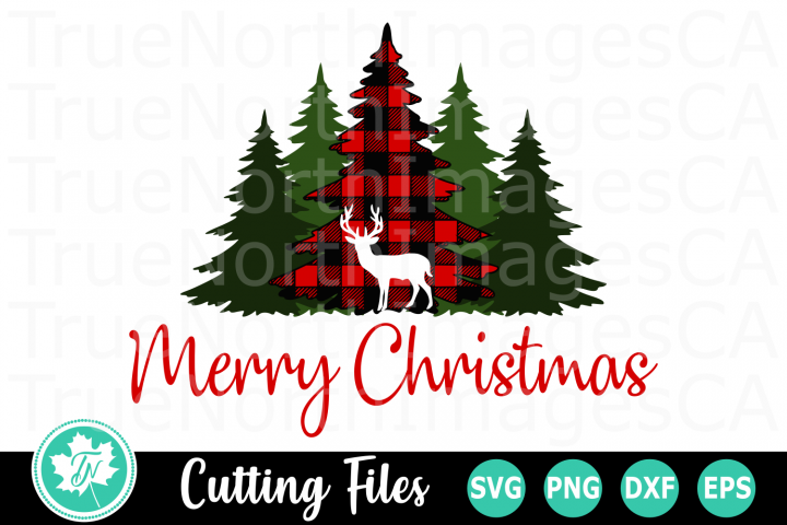 Merry Christmas Plaid Trees - A Christmas SVG Cut File