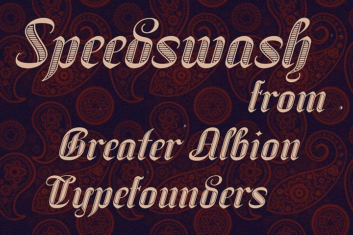 Speedswash Typeface Family