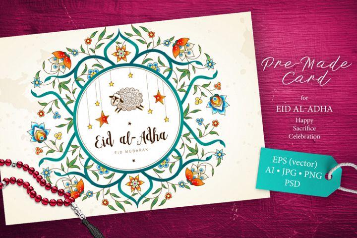 3. Eid Al-Adha Pre-Made Card