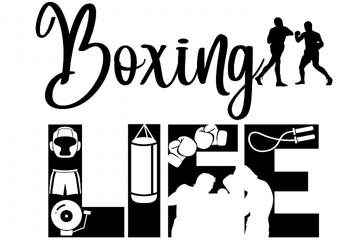 Boxing Life SVG Cutting File for the Cricut