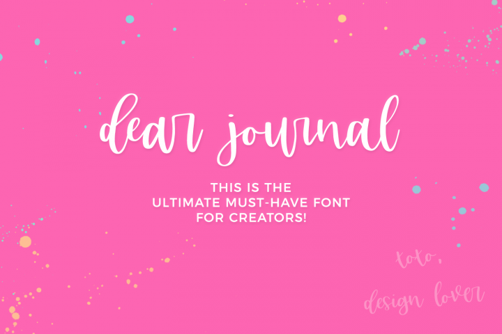 Dear Journal Calligraphy Font - Free Font of The Week