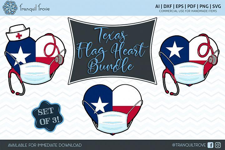 Texas Flag Heart Bundle