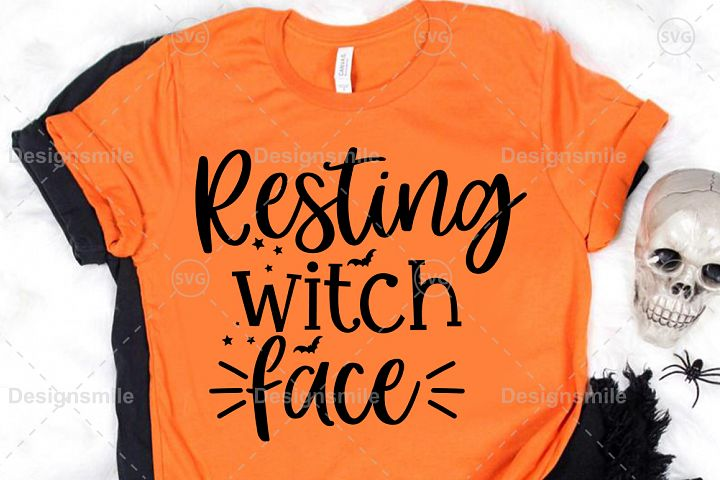 Resting Witch Face SVG DXF PNG EPS Cutting File