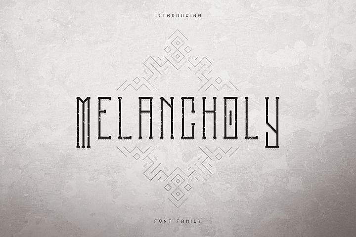 Melancholy Display Typeface Extra