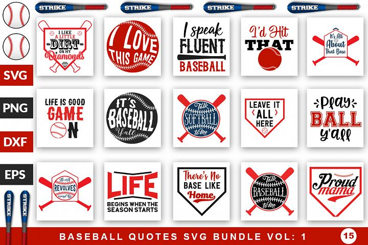 Baseball Quotes Svg Bunde