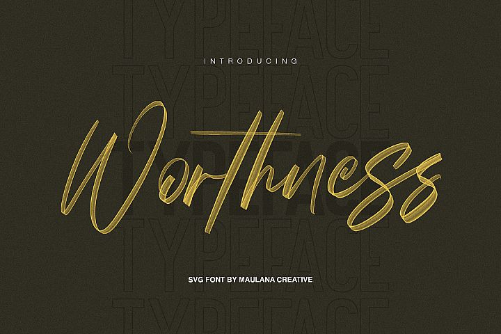 Worthness SVG Brush Font Free Sans