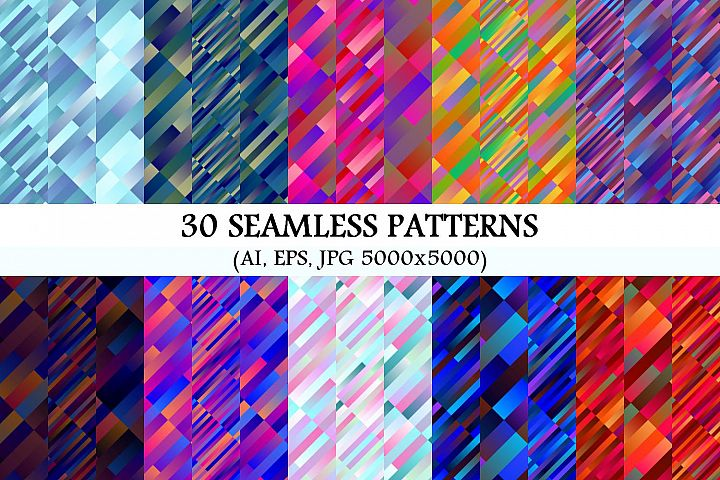 30 Seamless Gradient Patterns