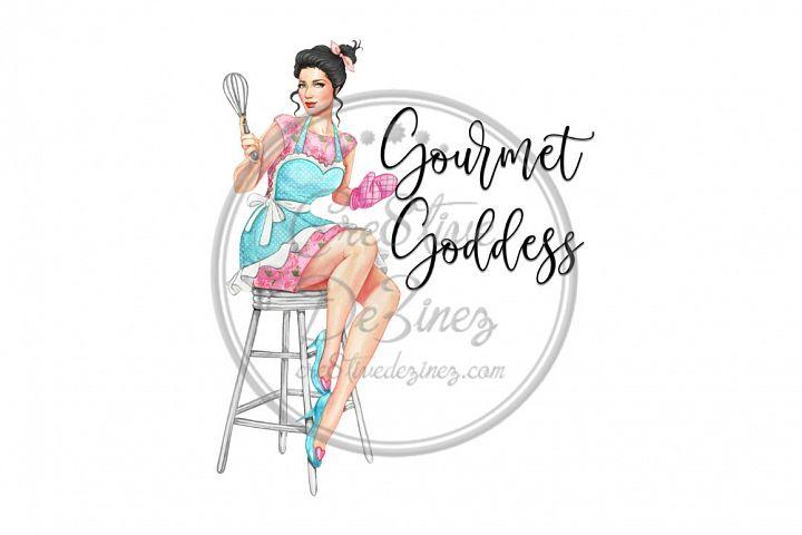Gourmet Goddess - Kitchen Pun - Sublimation File