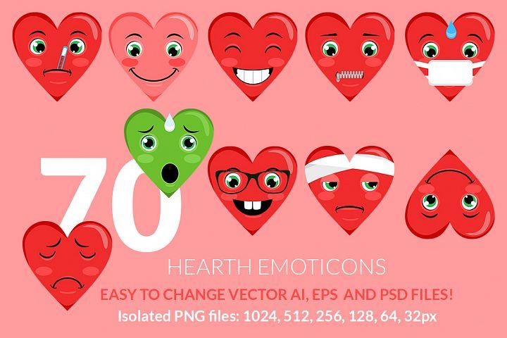 Hearth Love Emoticons