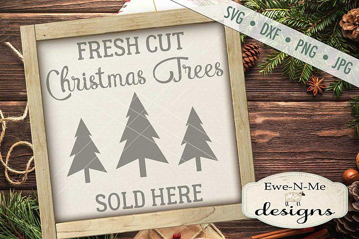 Fresh Cut Christmas Trees SVG DXF Files
