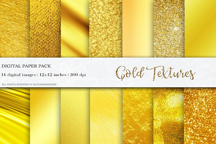 Gold Digital Papers, Gold Textures, Gold Foil Textures, Gold