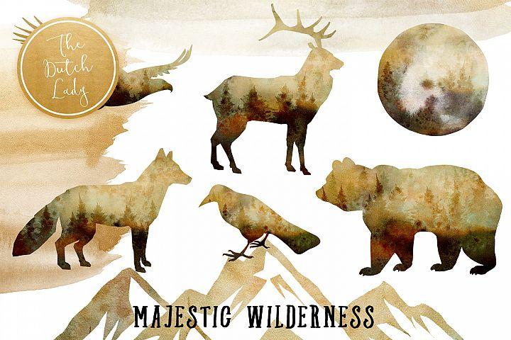 Majestic Wilderness Clipart Set
