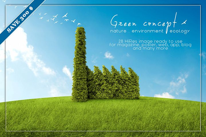 GREEN Concept illustration bundle