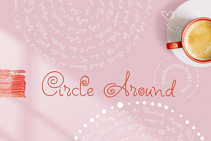 Circle Around handwritten Kids Font